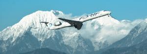 Adria Airways flight above mountains